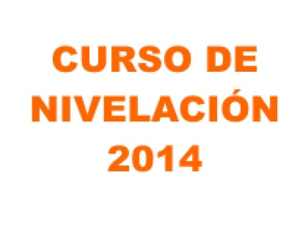 Curso de Nivelación 2014